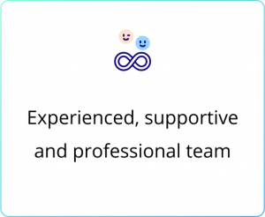 Experienced, supportive and professional team